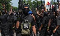 [Blacks] [in America] 美国黑人民兵团体持枪游行秀武力