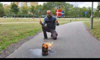 [伊斯兰在欧洲] the Quran burns in Malmö, Sweden